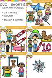 CVC Clip Art :  Short E Vowel Clip Art Bundle Volume One {Word Family Clip Art}