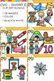 CVC Clip Art :  Short E Vowel Clip Art Bundle Volume One {