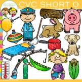 CVC Clip Art: Short O Word Family Volume One {Word Family Clip Art}