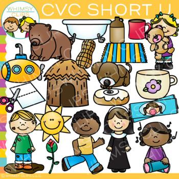 CVC Clip Art: Short U Vowel Clip Art Volume One {Word Family Clip Art}