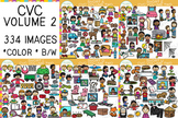 Short Vowel CVC Clip Art Bundle: Volume Two