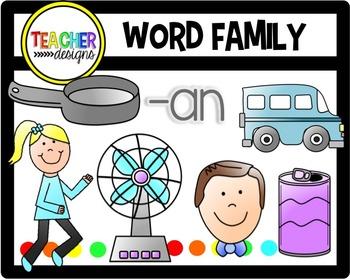 CVC Clip Art -an family