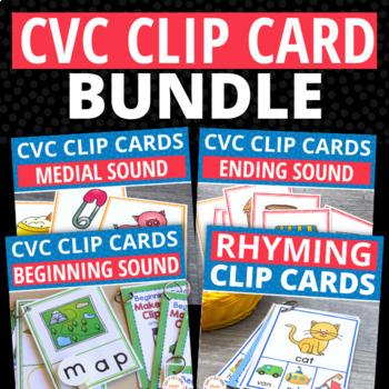 CVC Word Family: Clip Card Bundle