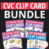 CVC Word Family: Clip Card Bundle