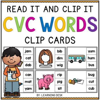 CVC Activities (CVC Clip Cards)