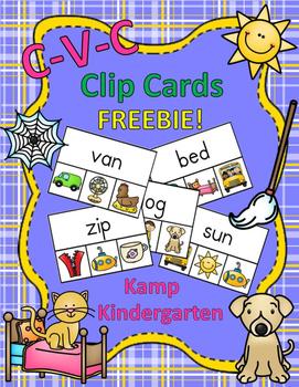 CVC Clip Cards FREEBIE