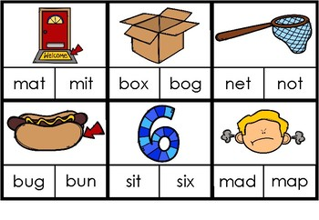 CVC Clip Cards - Look at the Picture, Clip the Correct Word