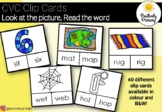 CVC Clip Cards - Look at the Picture, Clip the Word