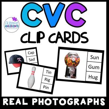 CVC Clip Cards- REAL PHOTOGRAPHS