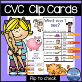 CVC Words Clip Cards Short Vowels Activity