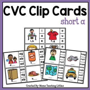CVC Clip Cards Short a