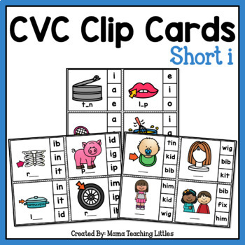 CVC Clip Cards Short i