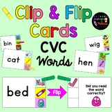 CVC Clip and Flip Cards ~ Self checking CVC word center activity