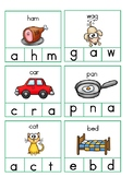 CVC Clip cards for Initial, Medial, and Final sounds
