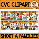 CVC Clipart Bundle l CVC Short A Word Families l TWMM Clip Art
