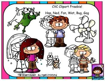 CVC Clipart Freebie