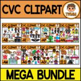 CVC Clipart GROWING MEGA BUNDLE l CVC Word Families l TWMM