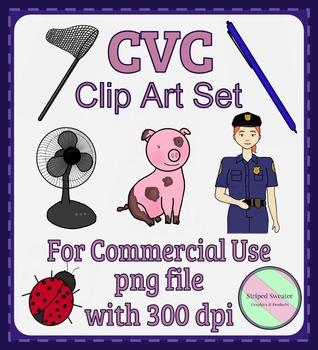 CVC Clipart Set