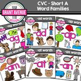 CVC Clipart - Short A Clip Art - Word Family Clipart Bundle