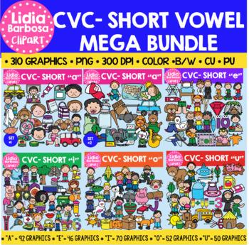 CVC Clipart- Short Vowel Mega Bundle