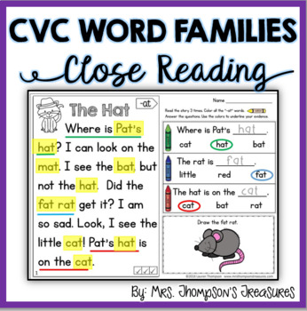 CVC Close Reading Passages