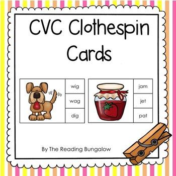 CVC Clothespin Cards