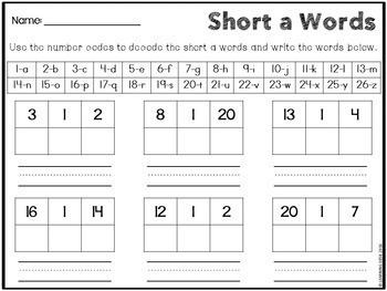 CVC Activities-CVC Worksheets