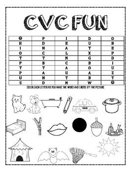 CVC Color Word Fun
