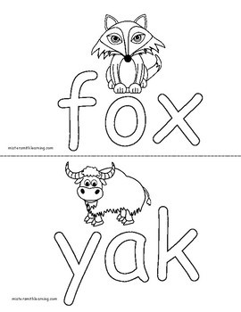 CVC Coloring Pages with Picture