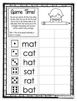 CVC Word Work Activity Packet-NO PREP