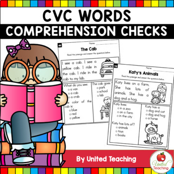 CVC - Comprehension Checks CVC Words Bundle