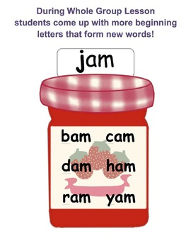 CVC (Consonant, Vowel, Consonant) Posters - for Whole Group Lessons