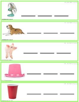 CVC Consonant Vowel Consonant Vocabulary Spelling Strips AUTISM RESOURCE