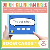CVC Controlled Sentences Fluency & Comprehension | BOOM CARDS™
