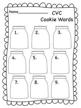 CVC Cookie Word Sort - Real & Non-Sense {Freebie}