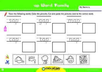 CVC - Cut & Paste Word Building Activities