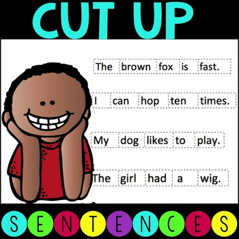 CVC Cut Up Sentences by Literacy Without Worksheets | TpT
