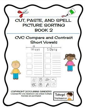 cut and paste spell phonics picture sorting worksheets cvc free sample. Black Bedroom Furniture Sets. Home Design Ideas