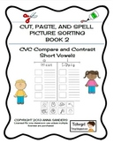 Cut and Paste & Spell Phonics Picture Sorting Worksheets-C