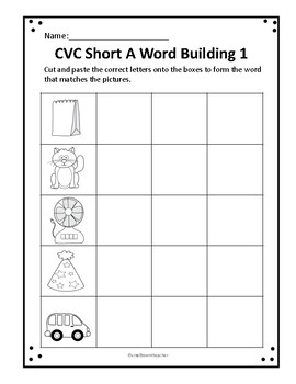 CVC Cut and Paste Word Building