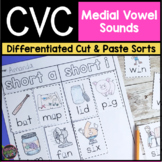 CVC Cut and Paste Word Sorts