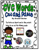 CVC Word Worksheets Cut and Paste