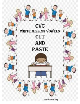 CVC Cut and Paste packet for Kindergarten and First Grade