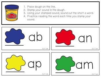 CVC DOUGH STAMPING MATS: Stamping through Articulation, Phonology & Reading