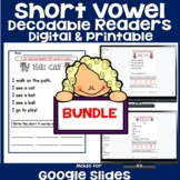 CVC Decodable Readers - Short Vowel BUNDLE!
