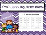 CVC Decoding assessment *FREEBIE*