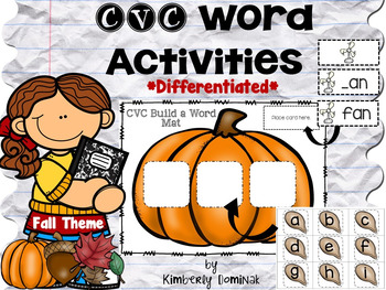 CVC Differentiated Activities *Fall Theme