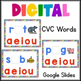 CVC Digital Word Work Phonics Google Slides Freebie