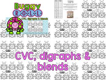 CVC, Digraphs & Blends Roll & Read BUNDLE!