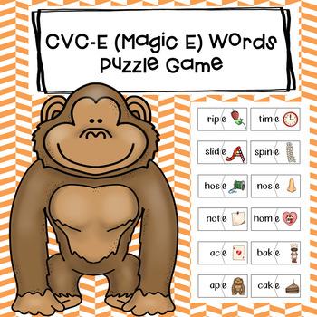 CVC-E (Magic-E) Word Puzzles